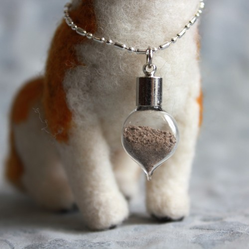 Tiny lockets hold your pet's ashes or a lock of fur