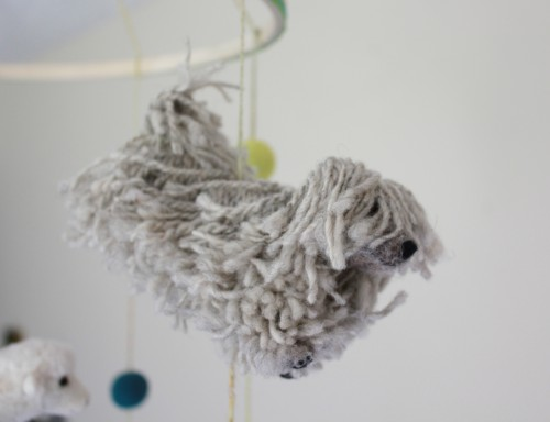 needle-felted Puli by Fiber Friends