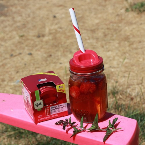 Sippy cup/ straw lids from Ball Canning