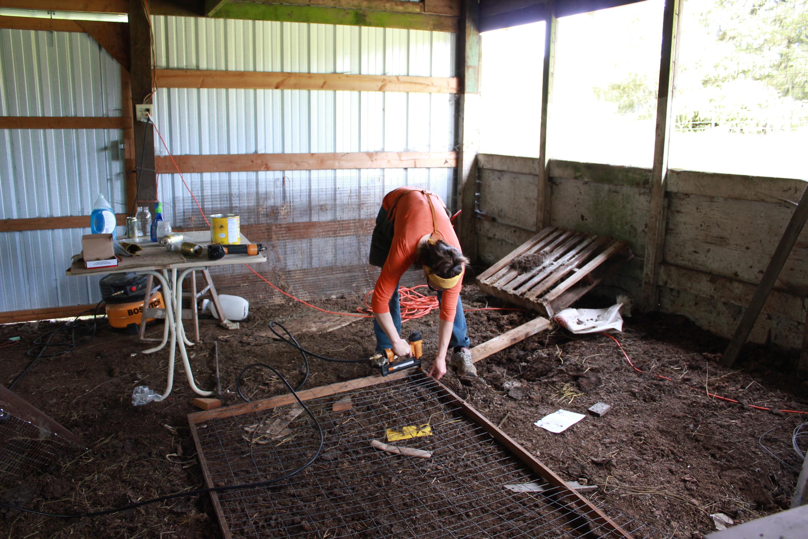 Building a rabbit tractor